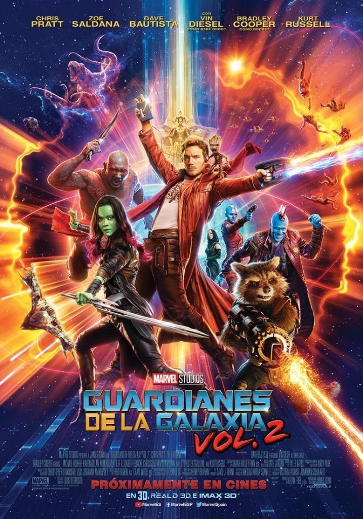 Póster Guardianes de la galaxia Vol. 2