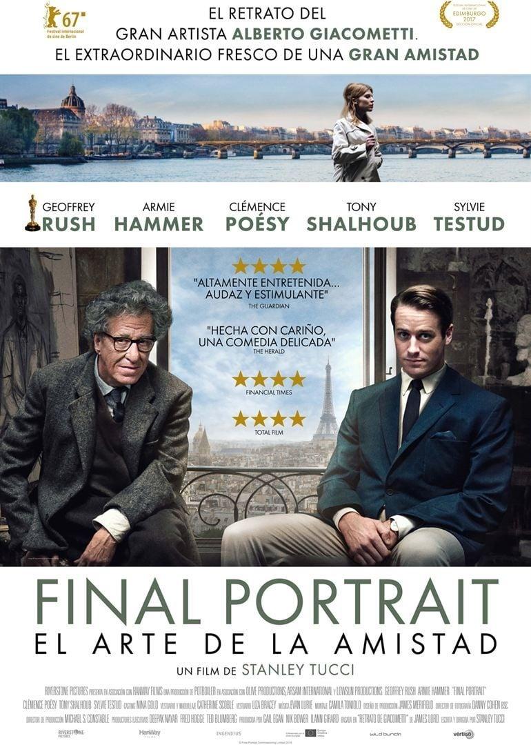 Póster Final Portrait. El arte de la amistad