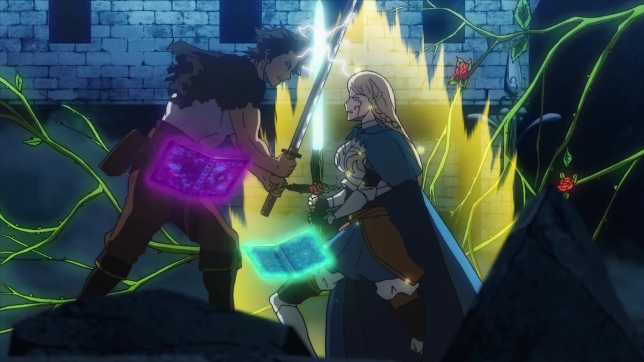 Black Clover - Season 1 Episode 96 : The Black Bulls Captain vs. the Crimson Wild Rose