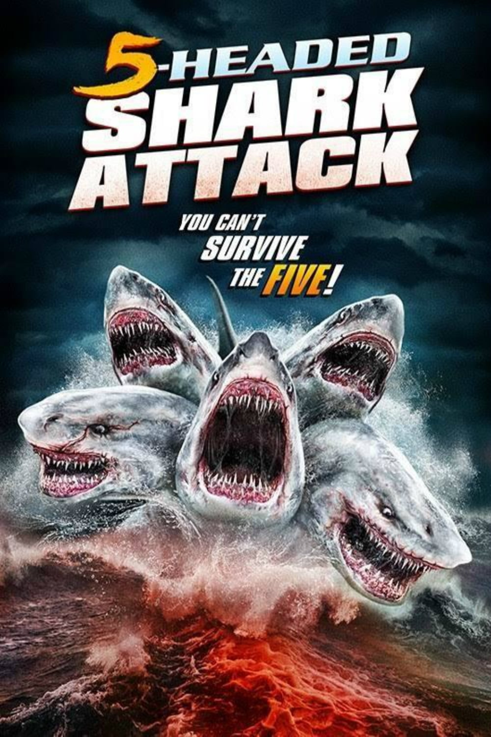 Póster 5-Headed Shark Attack