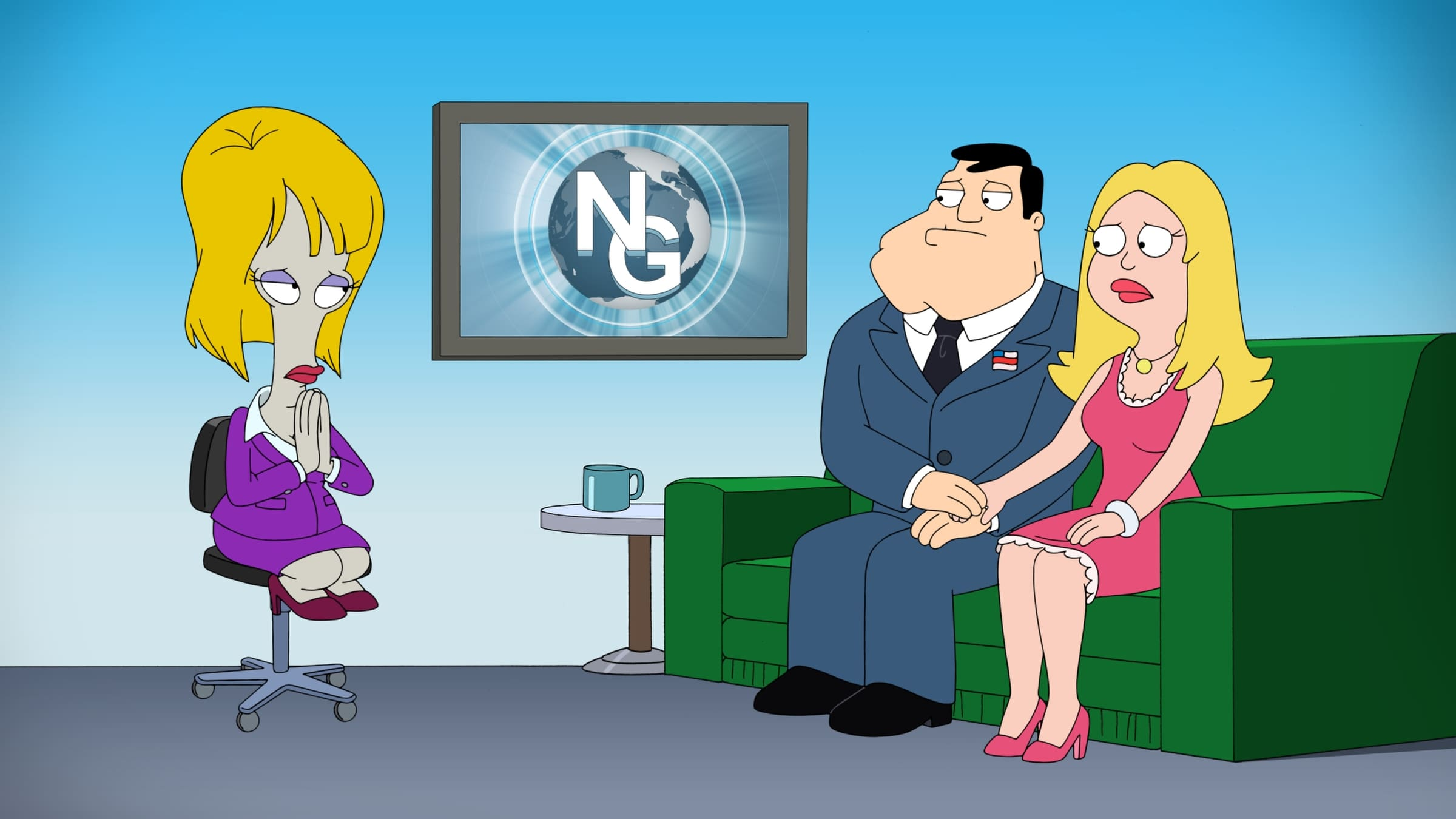 American Dad! Season 10 :Episode 19  News Glance With Genevieve Vavance