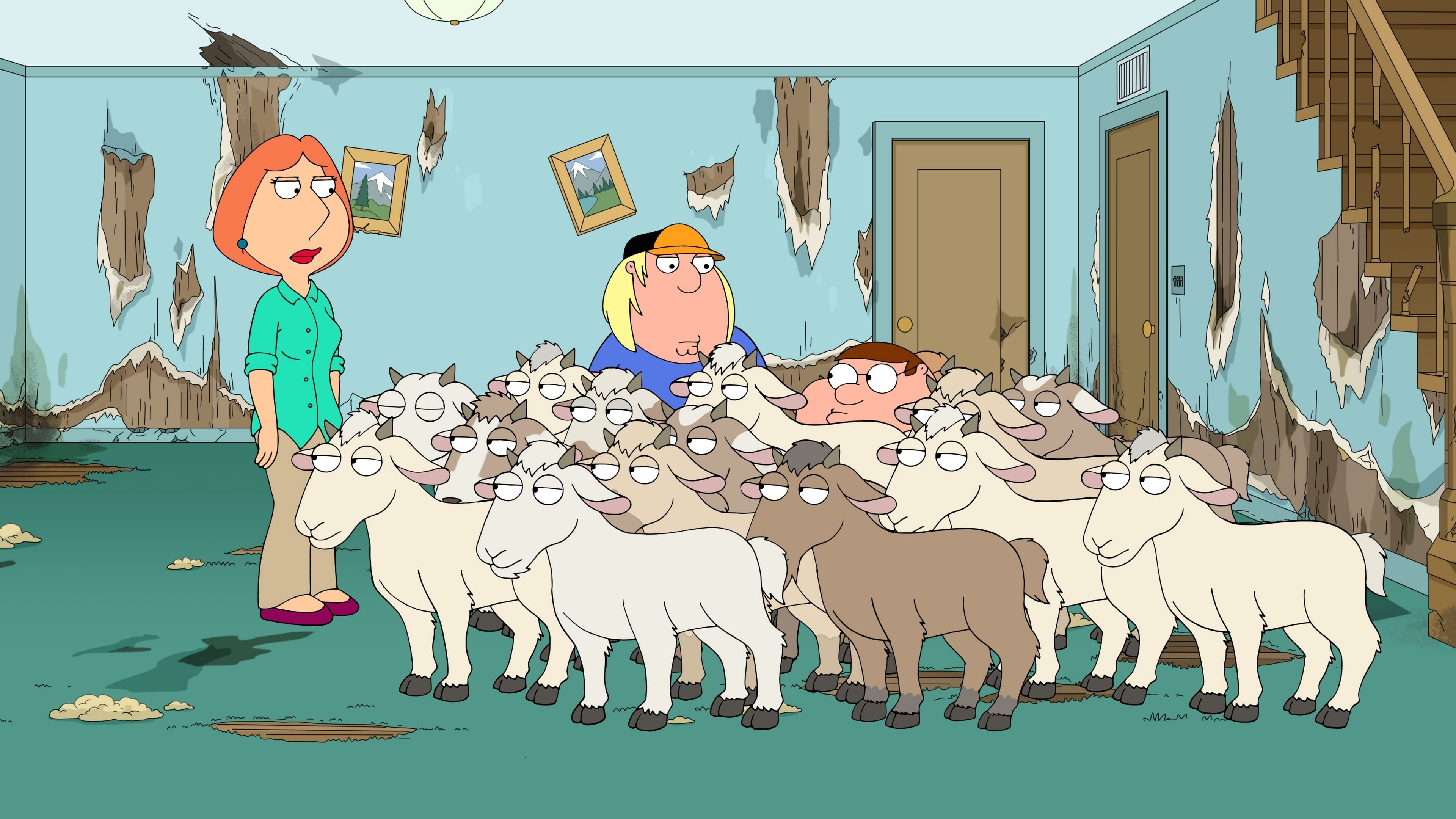 Family Guy Season 16 :Episode 3  Nanny Goats