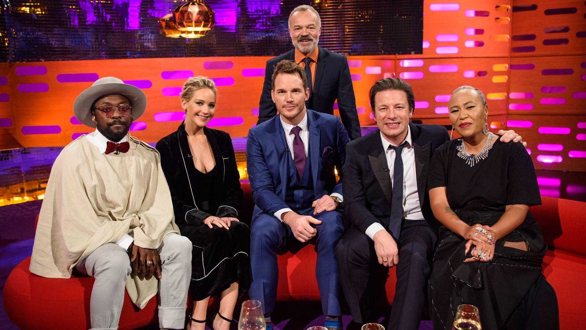 The Graham Norton Show Season 20 :Episode 9  Jennifer Lawrence, Chris Pratt, Jamie Oliver, Will.i.am, Emeli Sande