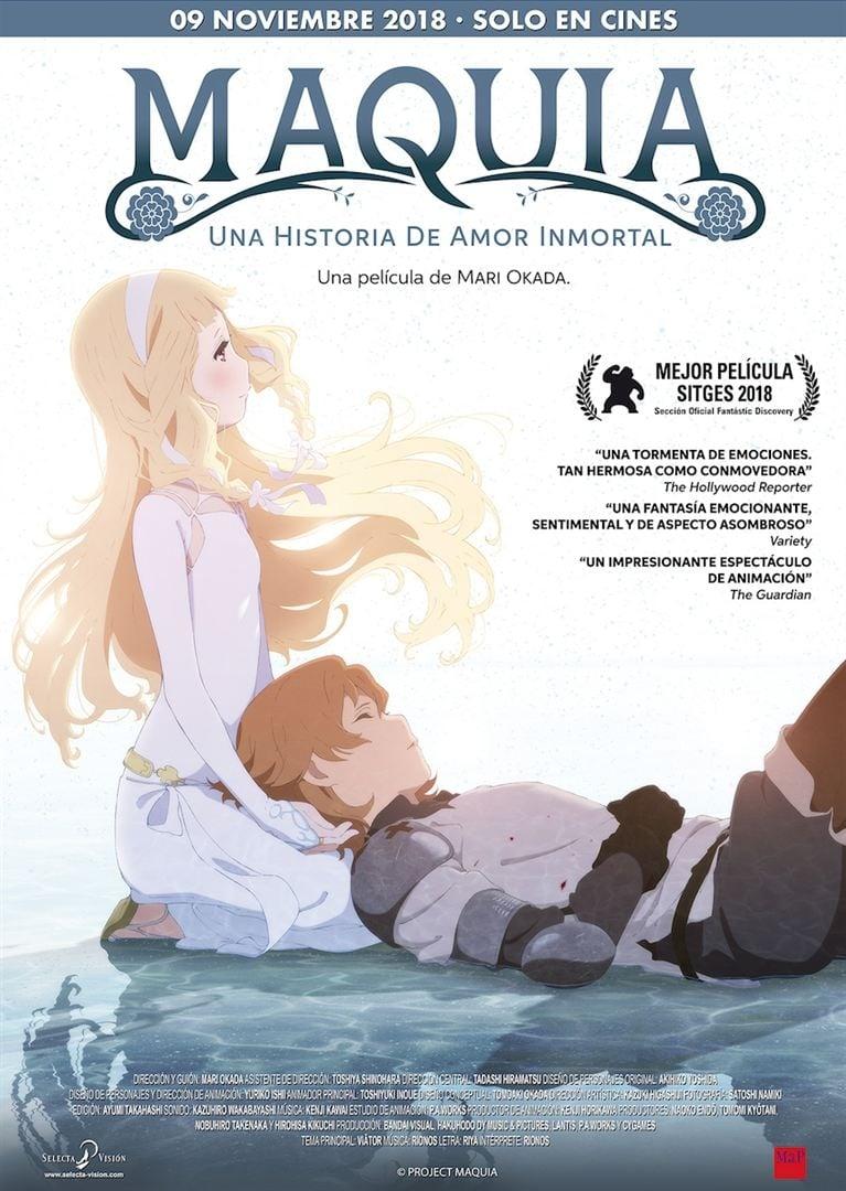 Póster Maquia: Una historia de amor inmortal (Sayonara no Asa ni Yakusoku no Hana wo Kazarou)