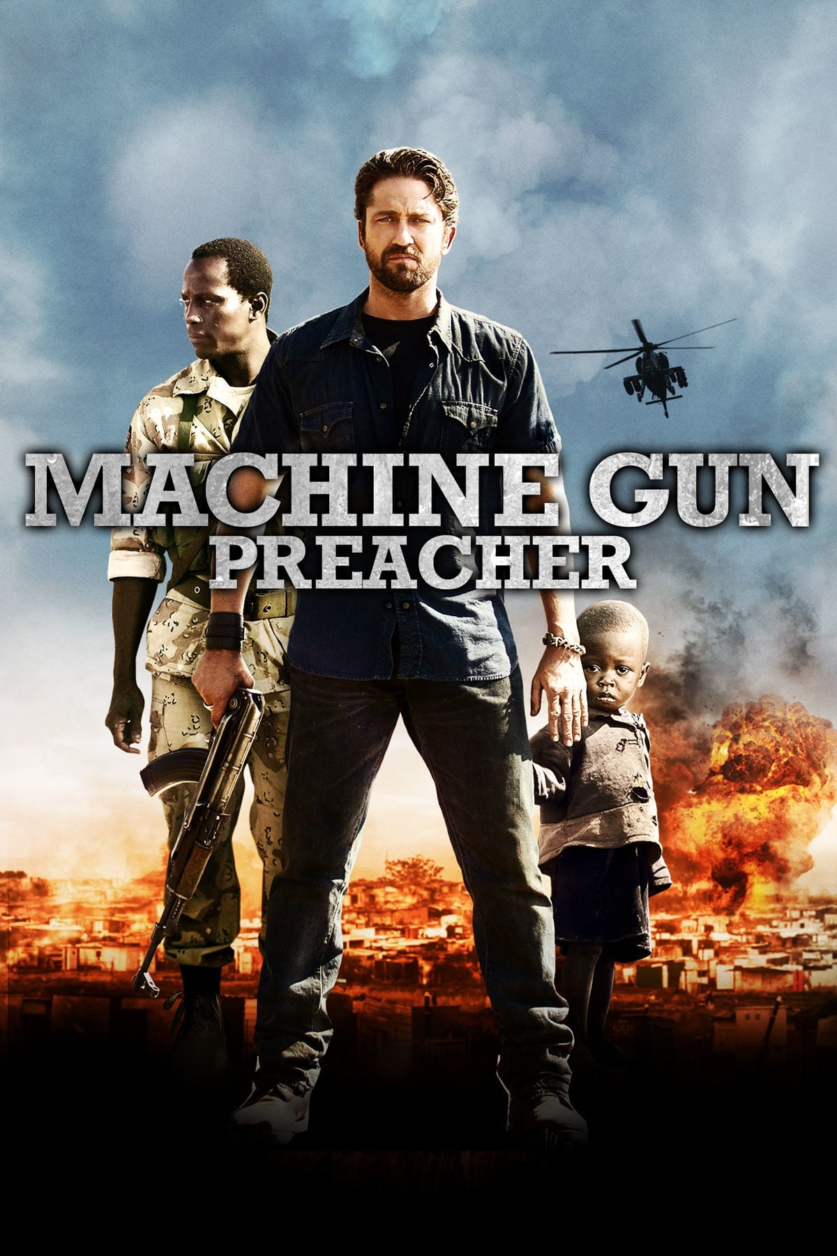 """machine gun preacher None of this would really matter if machine gun preacher weren't """"based on the inspiring true story of one man's extraordinary journey"""" that man is a gruff 49-year-old whose arc from hell-raiser to holy warrior pretty much matches his celluloid version's since 1998, sam childers."""