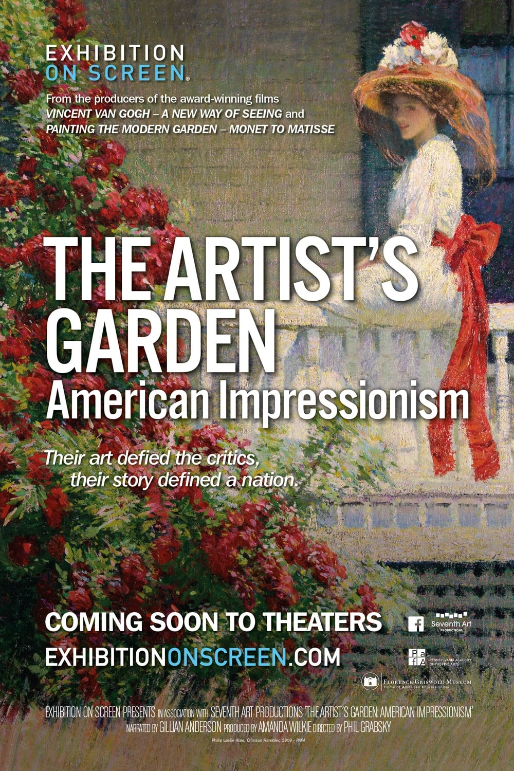 Film exhibition on screen the artist s garden american for American cuisine film stream