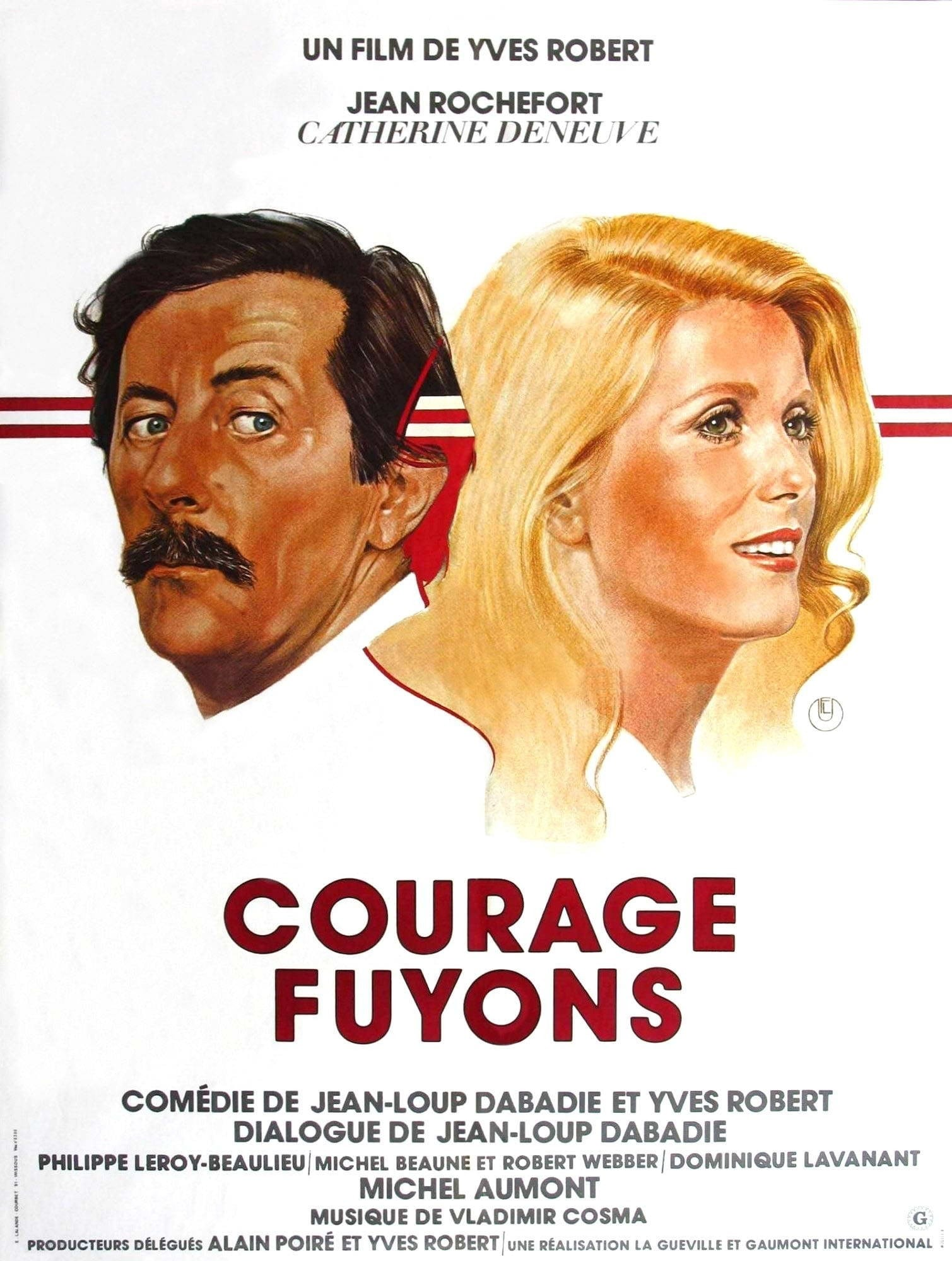 Courage, fuyons affiche