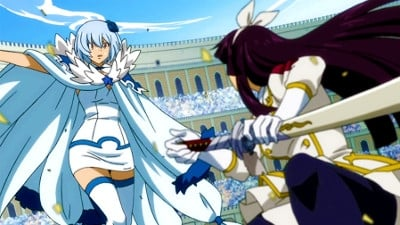 Fairy Tail Season 4 :Episode 14  Kagura vs. Yukino