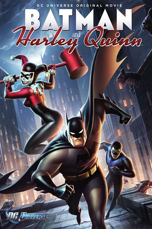 Póster Batman Y Harley Quinn