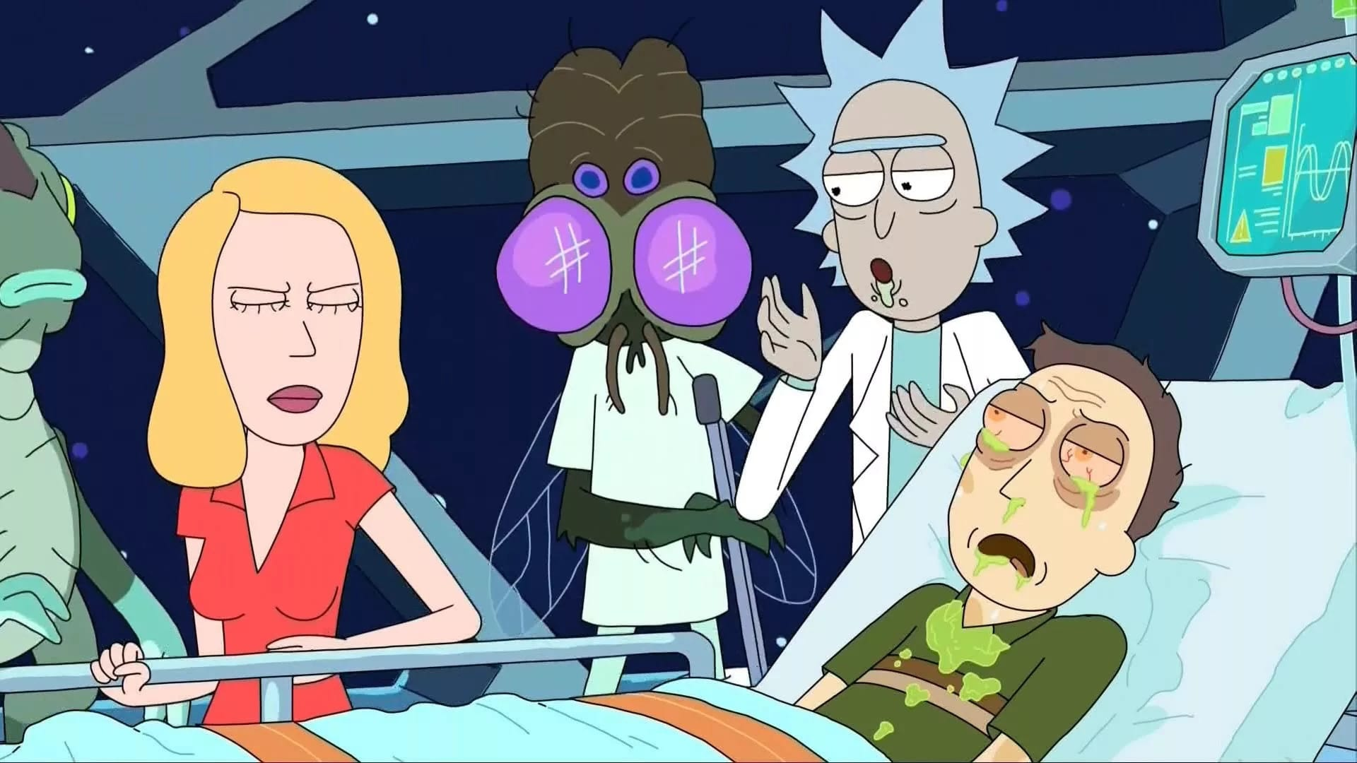 Rick and Morty Season 2 :Episode 8  Wer A sagt, muss auch Penis sagen