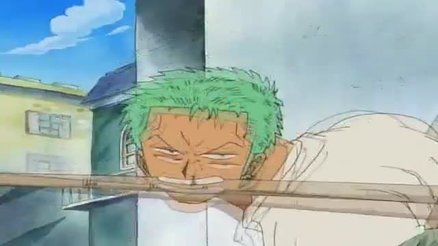 One Piece Season 1 :Episode 49  Zoro's New Swords and the Woman Sergeant Major!