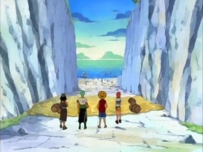 One Piece Season 1 :Episode 12  Clash with the Black Cat Pirates! The Great Battle on the Slope!