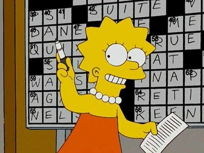 The Simpsons Season 20 :Episode 6  Homer and Lisa Exchange Cross Words