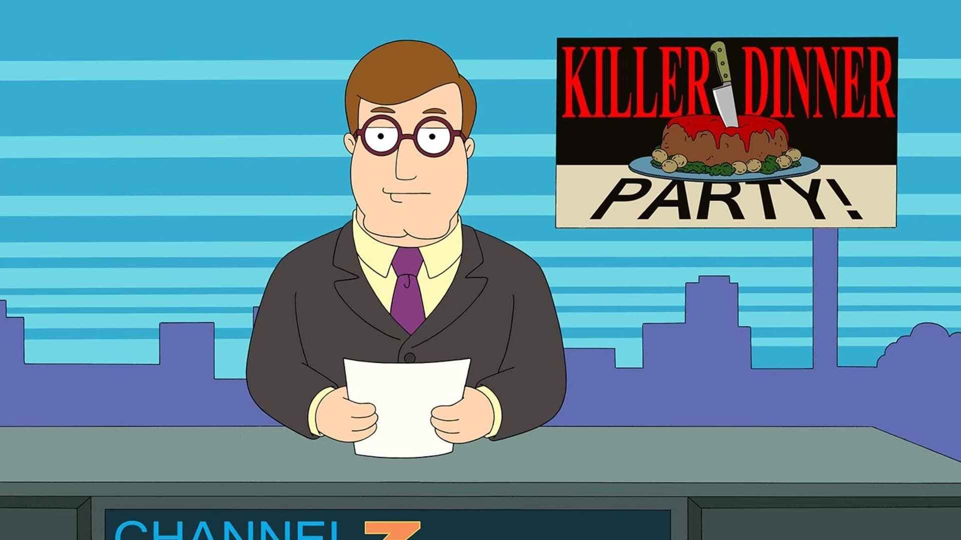 American Dad! Season 15 :Episode 7  Death By Dinner Party