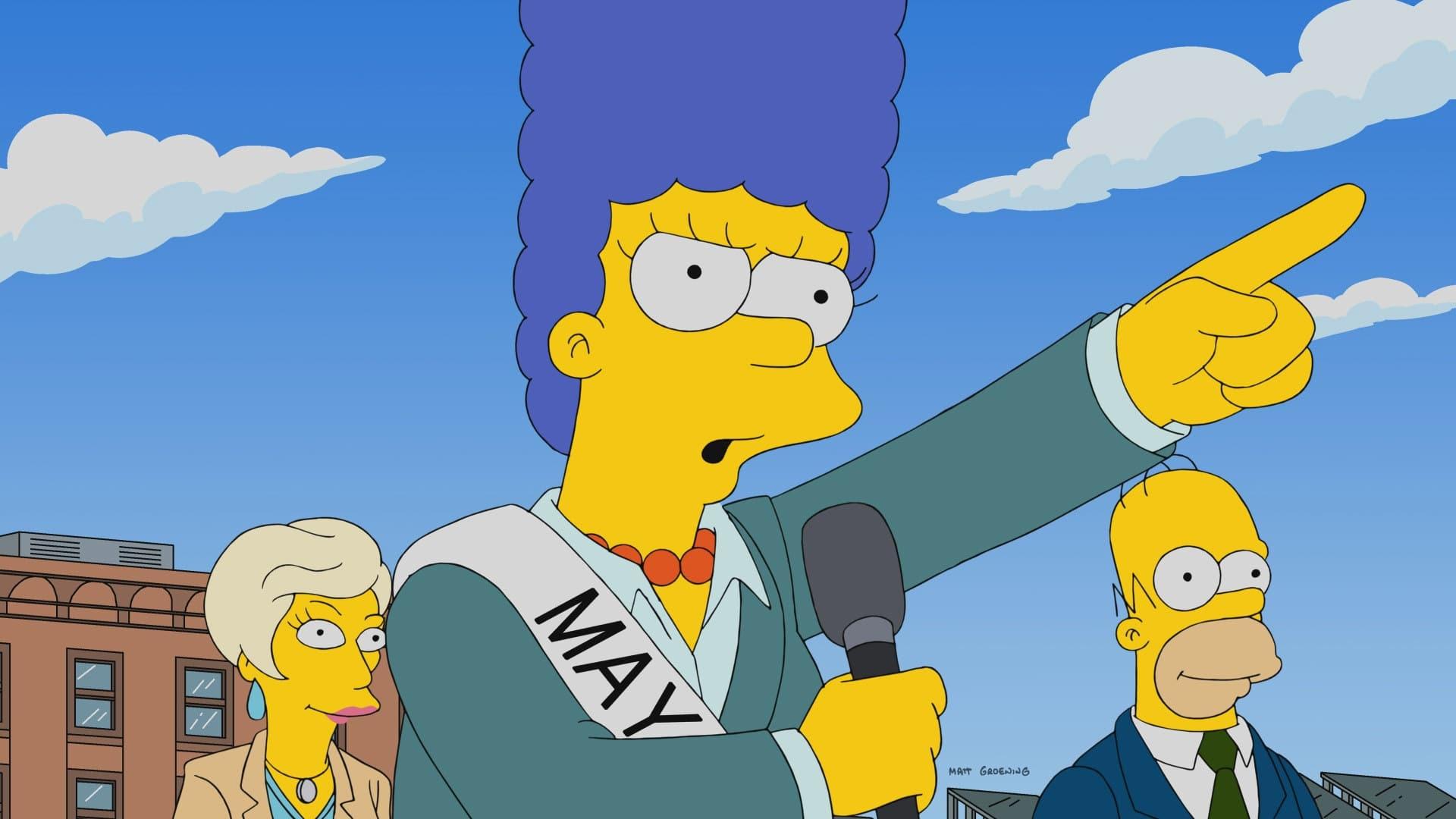 Die Simpsons Season 29 :Episode 6  Blau im Amt