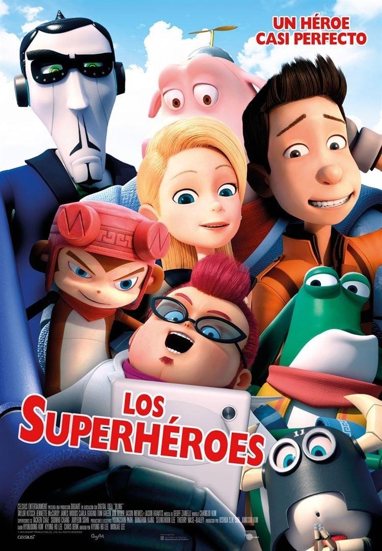 Póster Los superhéroes