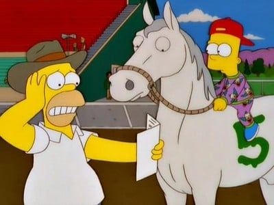 The Simpsons - Season 11 Episode 13 : Saddlesore Galactica