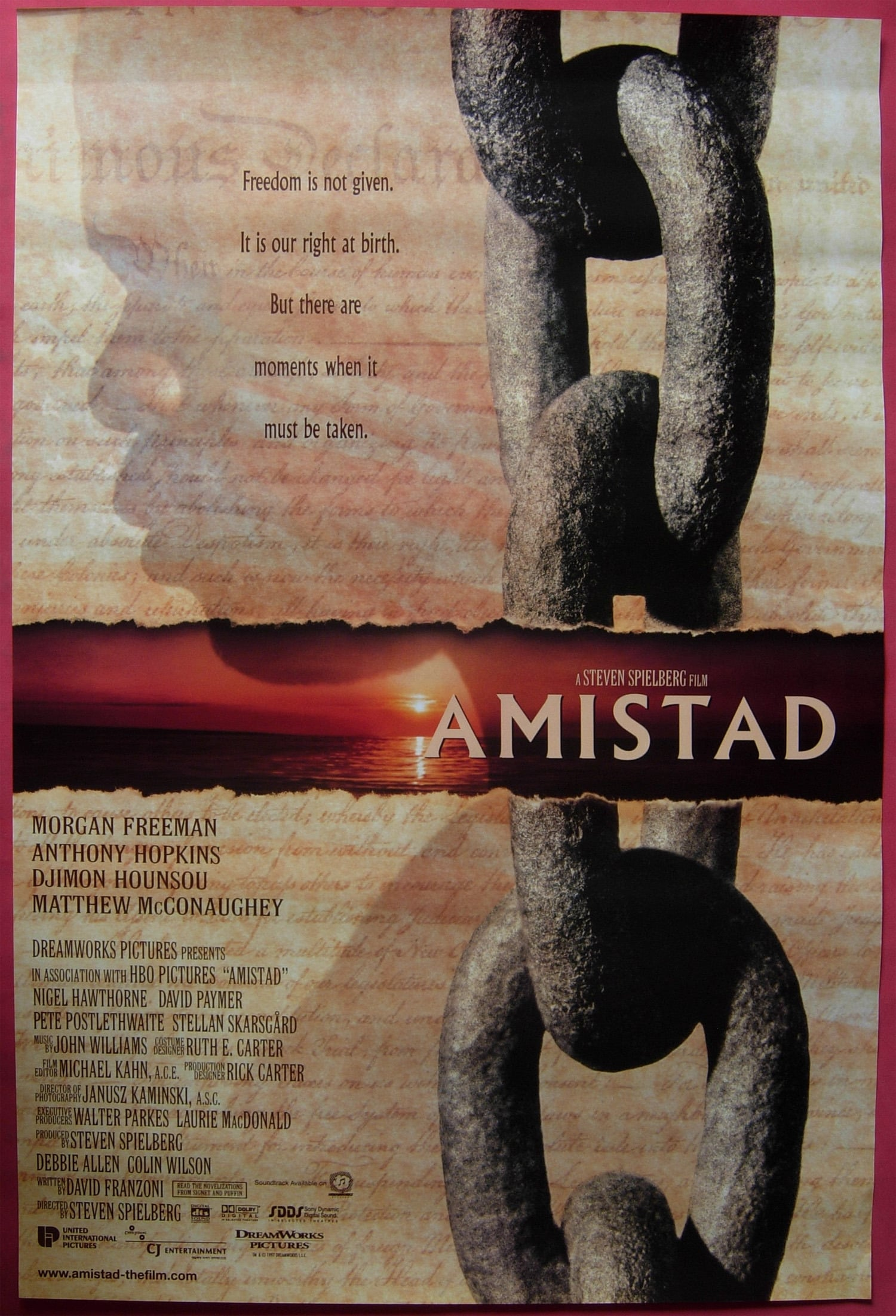 a theme analysis of the movie amistad I liked the film, but the film's potential is wasted and in turn amistad is simply a good little film without being anything great or excellent alex roy.