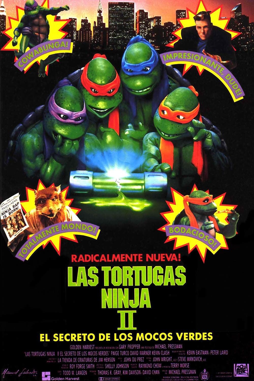 Póster Las tortugas ninja II: El secreto de los mocos verdes