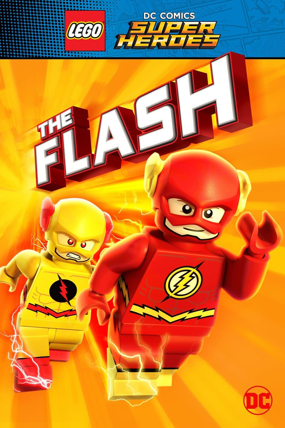Póster Lego DC Comics Super Heroes: The Flash