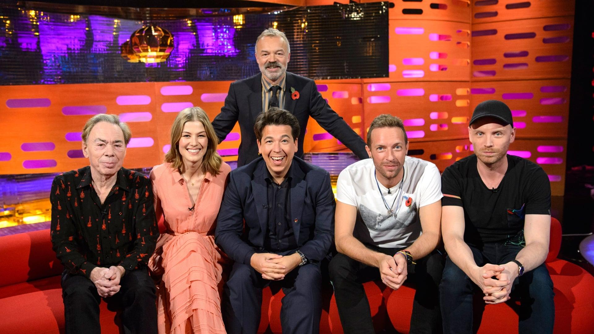 The Graham Norton Show Season 20 :Episode 7  Rosamund Pike, Michael McIntyre, Andrew Lloyd Webber, Coldplay