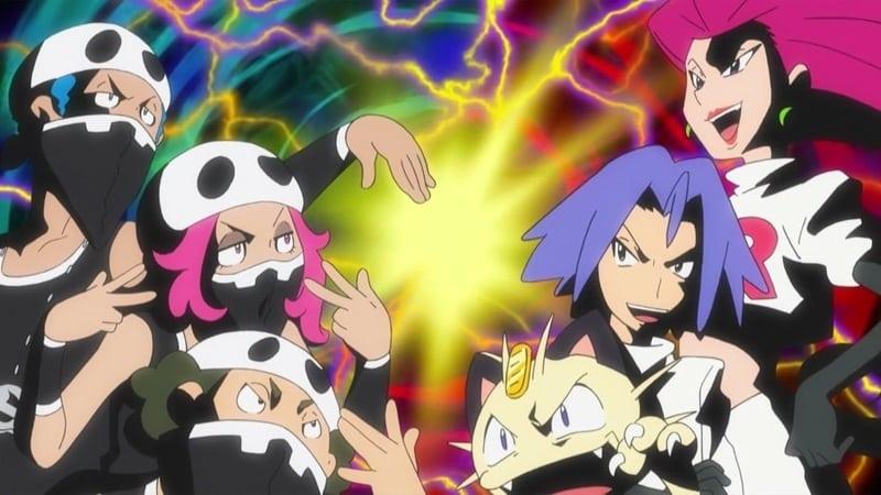 Pokémon Season 20 :Episode 25  A Team-on-Team Tussle!