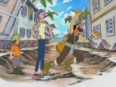One Piece Season 1 :Episode 32  Witch of Cocoyashi Village! Arlong's Female Leader!