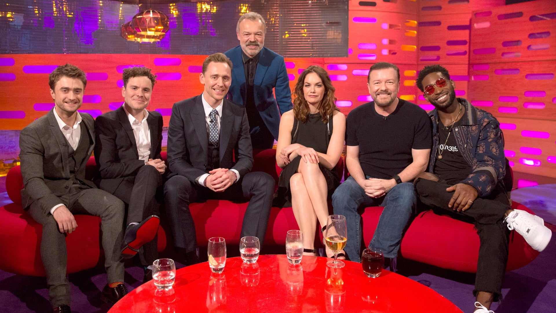 The Graham Norton Show Season 20 :Episode 18  Tom Hiddleston, Ruth Wilson, Ricky Gervais, Daniel Radcliffe, Joshua McGuire, Tinie Tempah