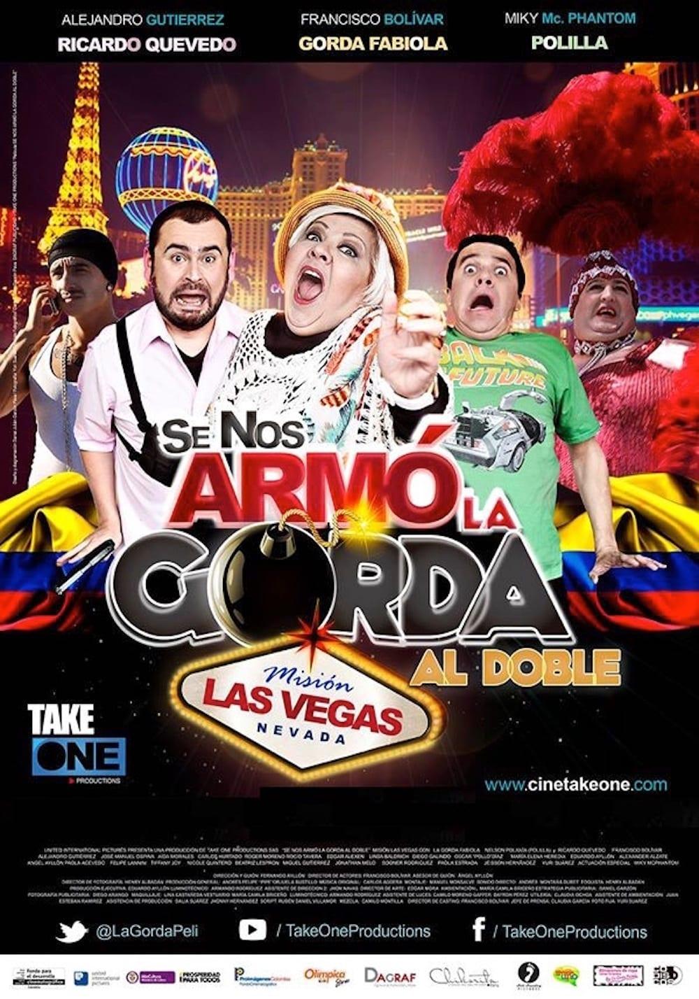 Póster Se Nos Armó la Gorda Al Doble Misión Las Vegas