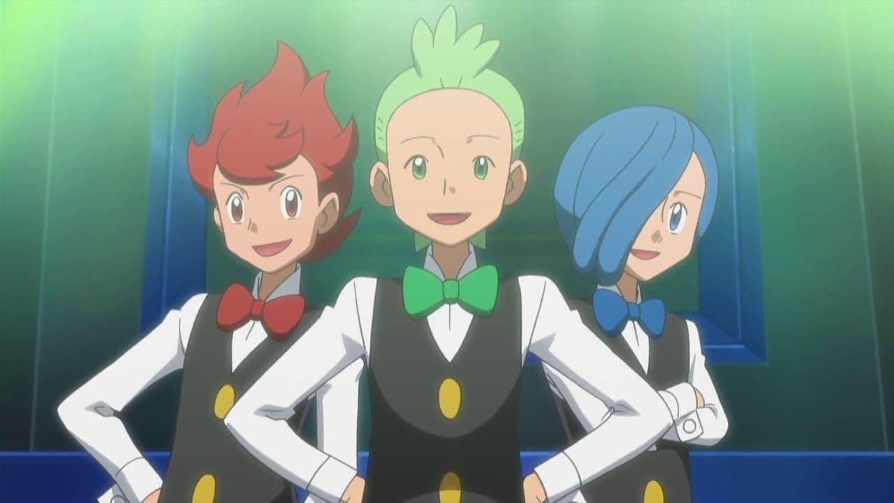 Pokémon Season 14 :Episode 5  Triple Leaders, Team Threats!