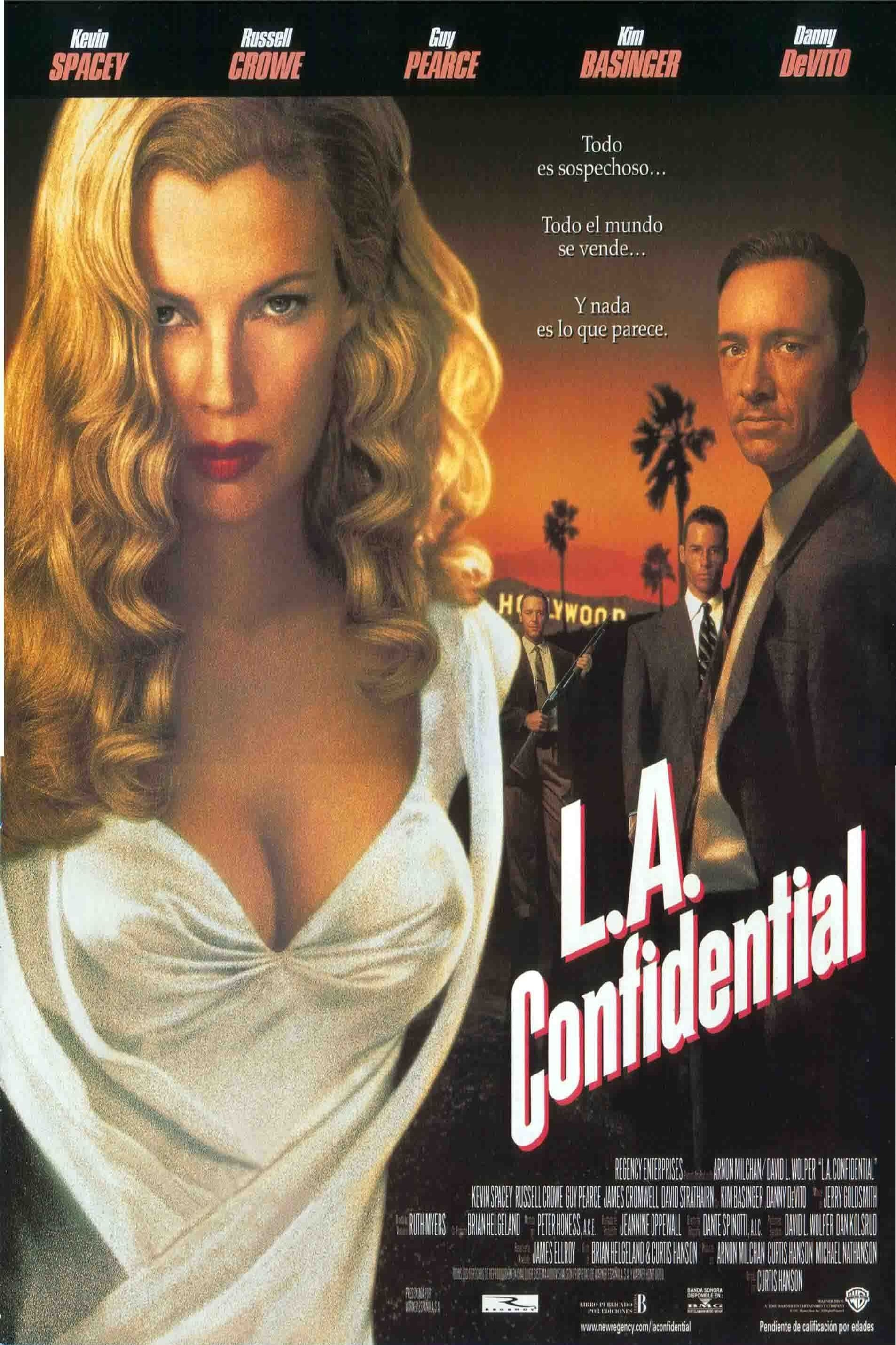 la confidential Guy pearce opened up about working with kevin spacey on the set of 1997's  la confidential, calling the actor a handsy guy.