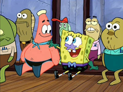 SpongeBob SquarePants Season 4 :Episode 12  Mermaid Man & Barnacle Boy VI - The Motion Picture