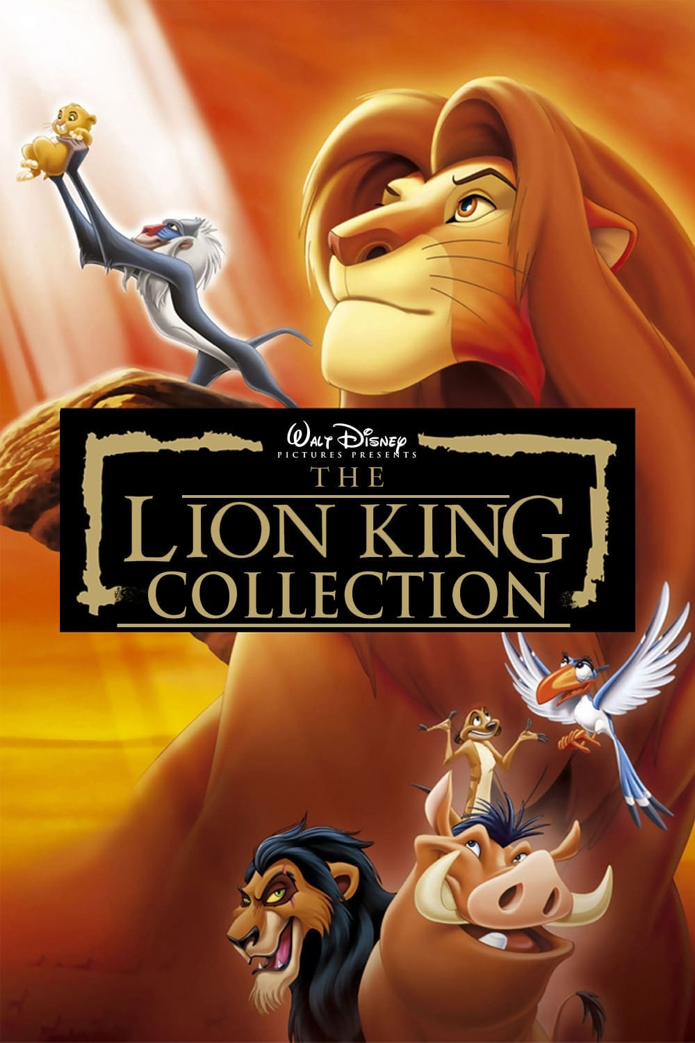 all movies from the lion king collection saga are on