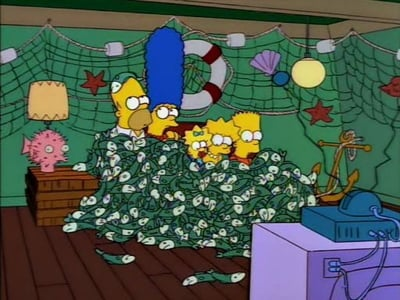 The Simpsons - Season 5 Episode 2 : Cape Feare