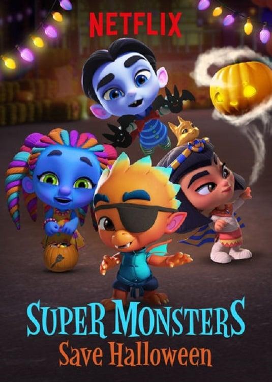 Póster Super Monsters Save Halloween