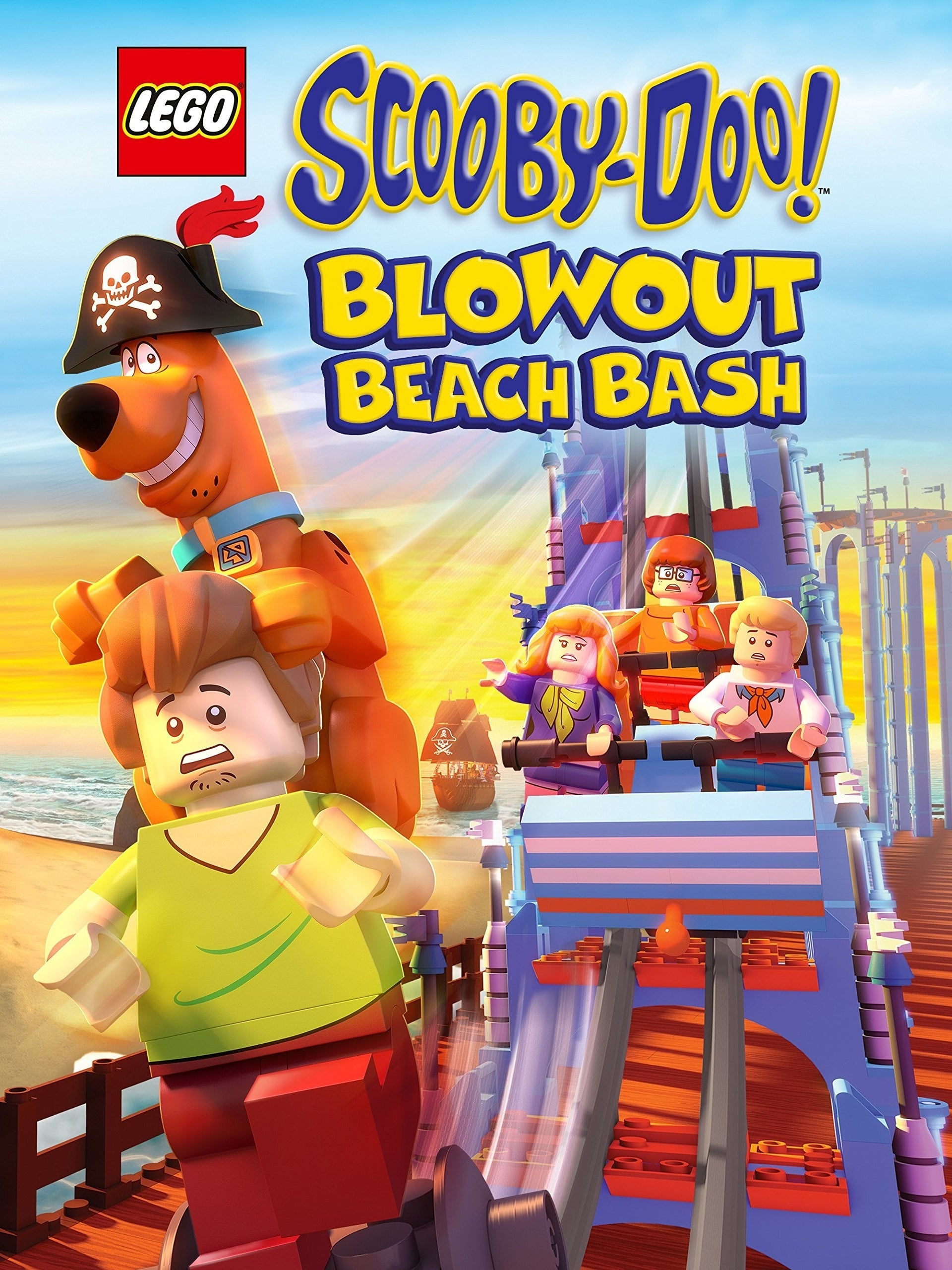 Póster Lego Scooby-Doo! Fiesta en la playa de Blowout
