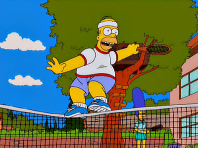 The Simpsons Season 12 :Episode 12  Tennis the Menace