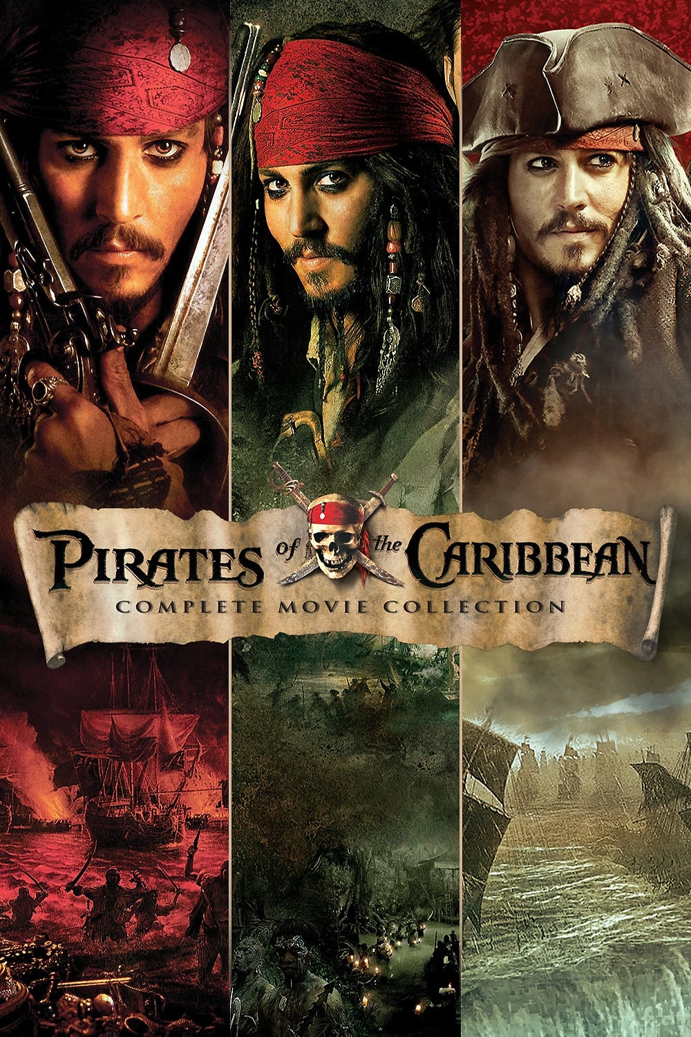 all movies from pirates of the caribbean collection saga are on movies film