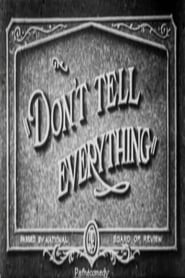 Don't Tell Everything (1927)