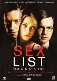 Film Sex list - Omicidio a tre Streaming ITA