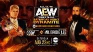 August 22, 2020 - Saturday Night Dynamite