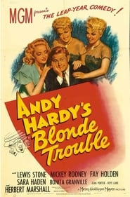 Andy Hardy's Blonde Trouble affisch