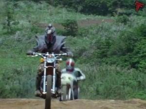 Kamen Rider Season 1 :Episode 63  Monster Rhinogang's Autorace of Death