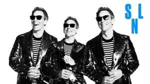 Seth Meyers and Paul Simon