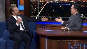 The Late Show with Stephen Colbert Season 5 :Episode 44  David Harbour, Karen Olivo, Aaron Tveit