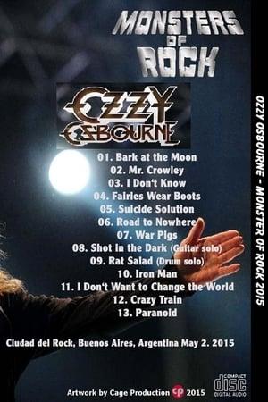 Ozzy Osbourne Monsters of Rock Argentina 2015