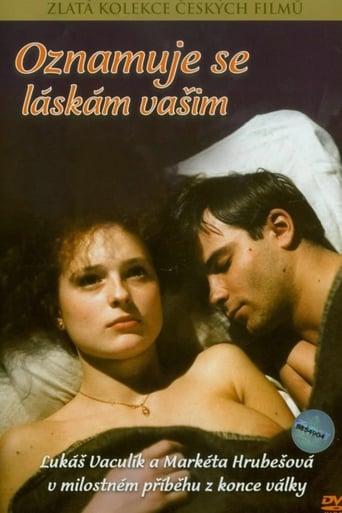 Poster of Oznamuje se láskám vašim