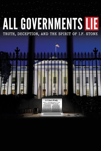 Poster of All Governments Lie: Truth, Deception, and the Spirit of I.F. Stone