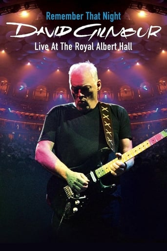 Poster of David Gilmour: Remember That Night