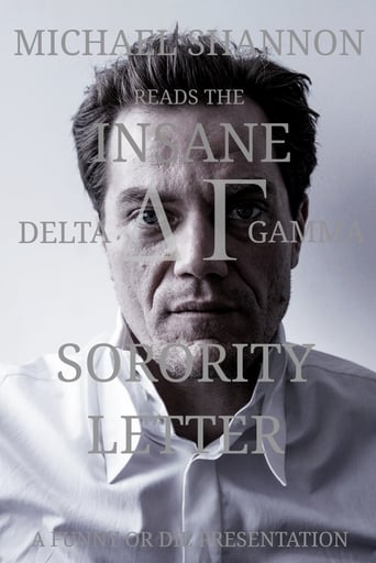 Poster of Michael Shannon Reads the Insane Delta Gamma Sorority Letter